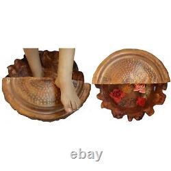 2 Unique Rustic Copper Foot Soaking Massage Spa Therapy Pedicure Pedi Bowls