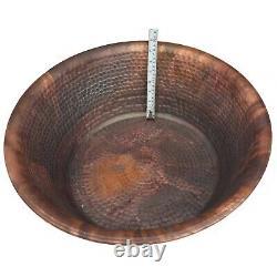 2pc 20 Copper Foot Bath Soak Therapy Massage Spa Hammered Copper Bowls Pedicure