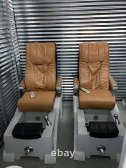 3 pedicure spa chairs with shiatsu massage and jacuzzi foot tub excellent cond