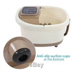 4L Foot Spa Bath Massager Bubble Heat Soaker Vibration Pedicure Soak Tub Timer