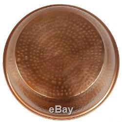 8 DEEP Pair Polished Copper Foot Bath Wash Massage Spa Pedicure Bowls Pots