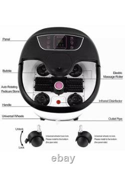 ACEVIVI Foot Spa Bath Massager Bubble Heat LED Display Infrared Relax Timer h