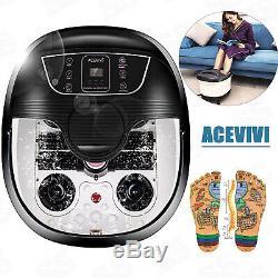 ACEVIVI Foot Spa Bath Massager Bubble Heat Soaker Vibration Pedicure Soak Tub FF