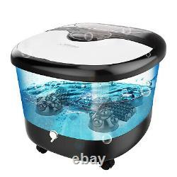 ACEVIVI Foot Spa Bath Massager Massage Rollers Heat & Bubbles Temp Timer 500W US