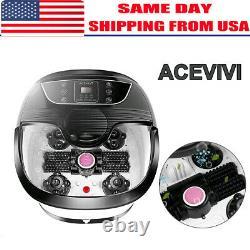ACEVIVI Foot Spa Bath Massager Massage Rollers Heat and Bubbles Temp Timer, USA