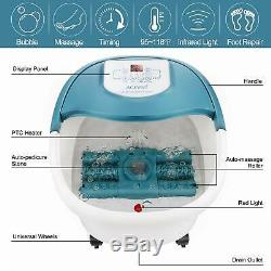 ACEVIVI Foot Spa Bath Massager with Heat 16 Motorized Shiastu Massage Rollers