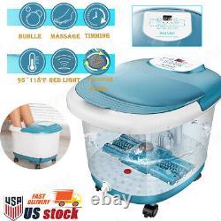 ACEVIVI Foot Spa Bath Massager with Heat Timer Motorized Shiastu Massage Rollers