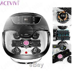 ACEVIVI Foot Spa Bath Massager with Massage Rollers Heat and Bubbles Temp Timer#