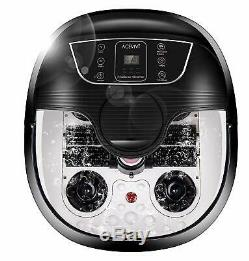 ACEVIVI Foot Spa Bath Motorized Massager Adjustable Heat+Time Massage Relax Jet