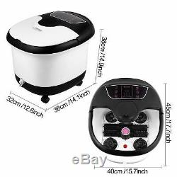 ACEVIVI Portable Foot Spa Bath Massager Set Heat LCD Display Infrared Relax