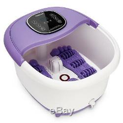 All In One Foot Spa Bath Massager LED Display Time Set Temp Heat Rollers Large