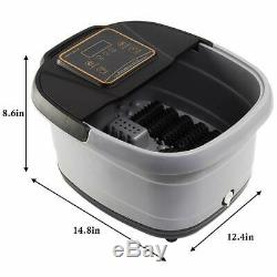All In One Foot Spa Bath Massager LED Display withTemp Time Set Heat Rollers Large