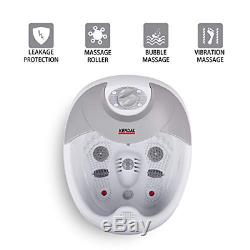 All In One Large Safest Foot Spa Bath Massager WithHeat HF Vibration O2 Bubbles Re