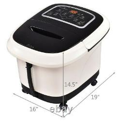 All In One Wheeled Foot Rollers Vibration Spa Bath Massager with Remote Control
