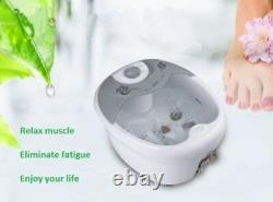 All-in-1 Foot Spa Bath Massager HF Vibration O2 Bubbles Heated Feet Therapy New