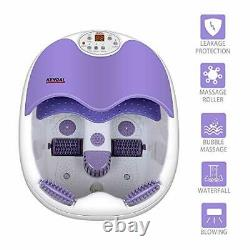All in one Foot spa Bath Massager withMotorized Rolling Massage Heat Wave O2 Bu