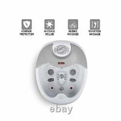 All in one Large Safest foot spa bath massager withheat, HF vibration, O2 bubbl