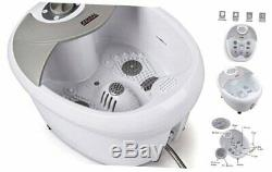 All in one Large Safest foot spa bath massager withheat, HF vibration, O2 bubbles