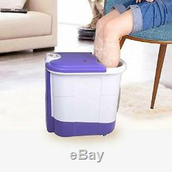 All in one deep foot & leg spa bath massager with motorized rolling massage, he
