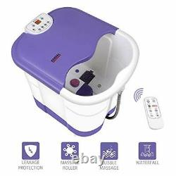All in one deep foot & leg spa bath massager with motorized rolling massage he