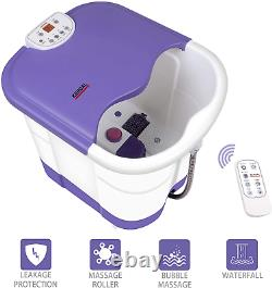All in one deep foot leg spa bath massager withmotorized rolling massage, heat