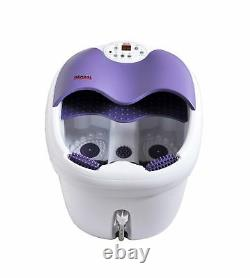 All in one foot spa bath massager withmotorized rolling massage, heat, wave, O2