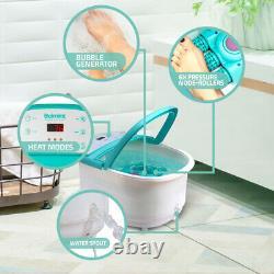 Belmint Foot Spa Bath Massager with Heat, 6 x Pressure Node Rollers, Bubbles, Fo