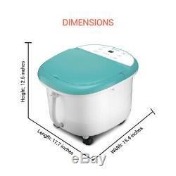 Belmint Foot Spa Bath Massager with Heat Foot Soaking Tub Features Bubbles an