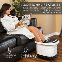 Best Choice Products Portable Heated Shiatsu Foot Bath Massage Spa with Pumice
