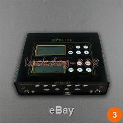 CE Dual Ionic Foot Detox Spa Bath LCD Machine & Fir Belts 5 Modes Ion Cleanse