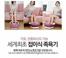 COMIA Foldable Foot Bath Spa Massager Heat Thermal Bubble Vibration Water n o
