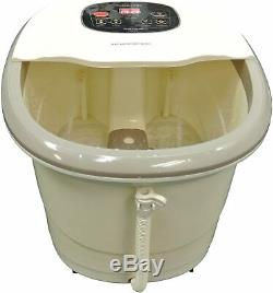 Carepeutic Motorized Hydro Therapy for Foot and Leg Spa Bath Massager, Cream