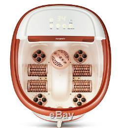 Carepeutic Touch Screen Water Jet Foot and Leg Spa Bath Massager KH305Brown