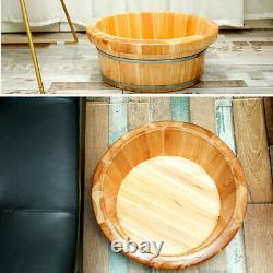 Cedar Wooden Foot Basin Feet Barrel Soaking Bath Tub for Foot Washing Sauna