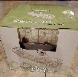 Conair Body Thermal Spa Bath Mat. Neck Foot, vibrating Massage. Control. NEW