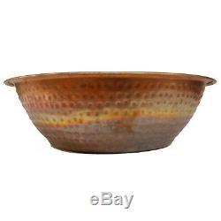 Copper Foot Pedicure Bowl Beauty Salon Spa Soaking Bath Wash Massage Therapy