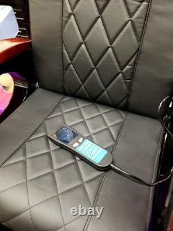Cream Salon Shiatsu Massage Pedicure Foot Spa Chair Pipeless Gold Tub Basin Tub