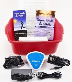 DETOX FOOT SPA Ionic Cleanse Detox Foot Bath with Free Extras. 1 YEAR WARRANTY
