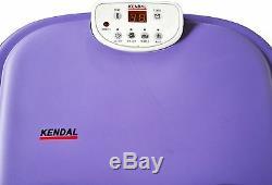Deep Foot Leg Spa Bath Massager Motorized Rolling Foot Massage LED Bubble W Heat