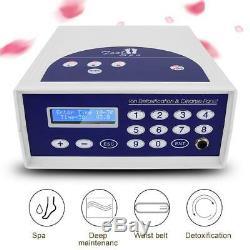 Detox Foot Bath Spa Machine Kit Cell Ion Ionic Aqua Cleanse Fir Belt Foot Bath