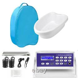 Detox Foot Bath Spa Machine Kit Cell Ion Ionic Aqua Cleanse with Belt Basin Bag