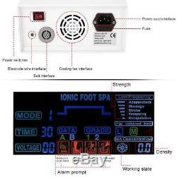 Detox Foot Bath Spa Machine Kit Cell Ion Ionic Aqua With Case Cleanse Fir Belt