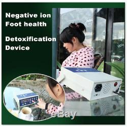 Detox Machine Cell Ion Ionic Aqua Foot Bath SPA Cleanse Machine Fir Belt Box CAN