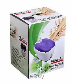 Digital foot spa bath massager motorized rolling heat bubbles water fall 1023