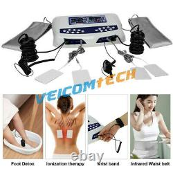 Dual Chi Detox Ionic Foot Bath Spa Cleanse Machine with Basin Large LCD 5 Modes