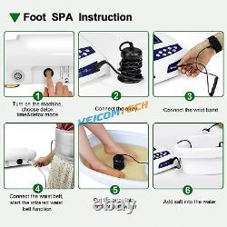 Dual Ion Detox Ionic Foot Bath Spa Cleanse Machine Infrared Belt LCD Bio Detox