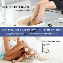 Dual Ionic Cell Spa Foot Detox Advanced Machine with Basin Tens Pads FDA CE New