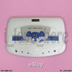 Dual Ionic Detox Ion Foot Spa Bath Ion Cell Cleanse Machine Set + 2 Arrays MP3