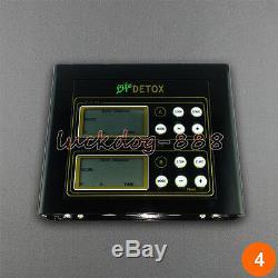 Dual Ionic Foot Detox Spa Bath LCD Machine & 2 Fir Belts 5 Modes & 2 Arrays