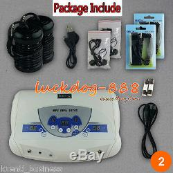 Dual MP3 Ionic Detox Cell Foot Bath Spa Cleanse Machine 2 Arrays ON SALE